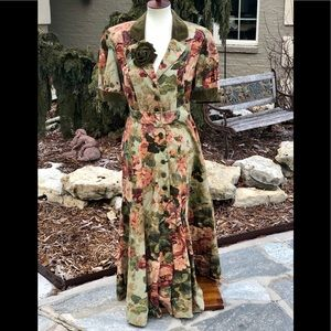 Mary Poppins like magical vintage dress floral